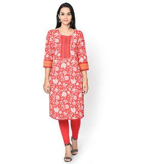 Rangriti Red Printed Kurta