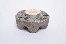 Handcrafted Natural Coloured Stone T-Light Holder
