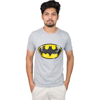 Men's Grey Half Round Neck, slevee Tshirt