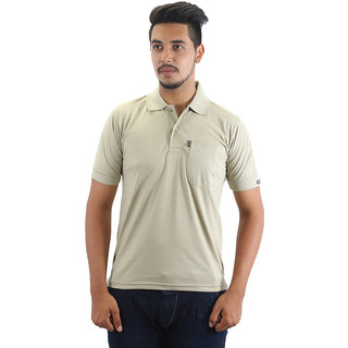 Go-On Peach Polo Neck Half Sleeve T-Shirt For Men'S