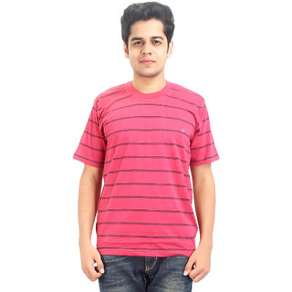 Go-On Red Round Neck Half Sleeve T-Shirt For Men'S