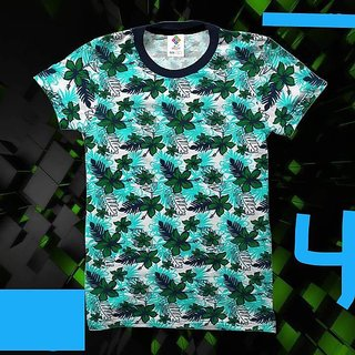 Cell Art's Multicolor Round Neck Half Sleeve T-shirt For Men