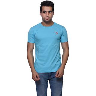 Oneliner Blue Round Neck Half Sleeve T-shirt For Men