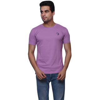 Oneliner Purple Round Neck Half Sleeve T-shirt For Men