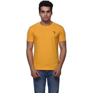 Oneliner Yellow Round Neck Half Sleeve T-shirt For Men