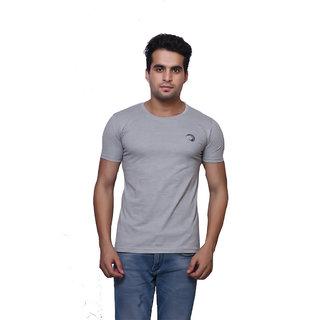 Oneliner Grey Round Neck Half Sleeve T-shirt For Men