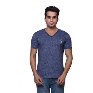 Oneliner Blue Round Neck Half Sleeve T-shirt For Men