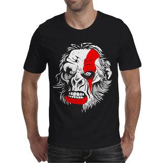 Oneliner Black Round Neck Half Sleeve T-shirt For Men