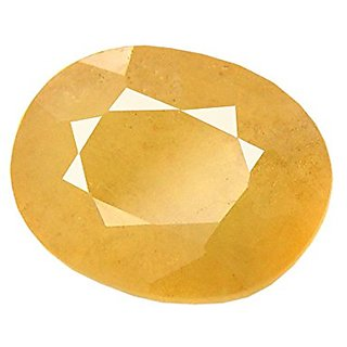 Om gyatri 8.00 Ratti Loose Yellow Sapphire (Pukhraj) Gemstone Certified Natural