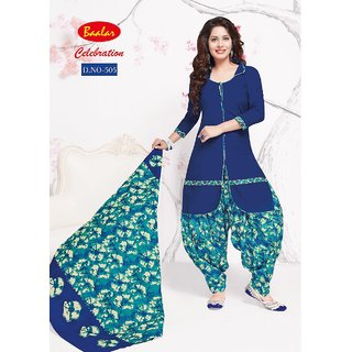 CELEBRATION WOMENS COTTON PATIYALA(NAVY BLUEFREEE SIZE)