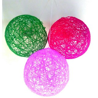 Combo Of 3 Yarn ball lanterns