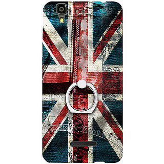 Casotec London Flag wallpaper Design 3D Printed Hard Back Case Cover with Metal Ring Kickstand for YU Yureka Plus