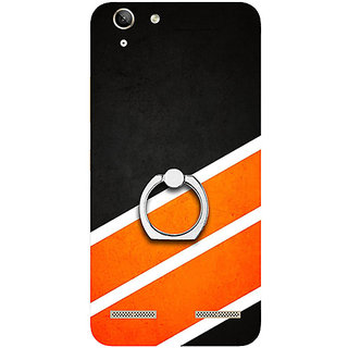 Casotec Abstract Pattern Design 3D Printed Hard Back Case Cover with Metal Ring Kickstand for Lenovo Vibe K5 Plus