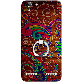 Casotec Wooden Pattern Print Design 3D Printed Hard Back Case Cover with Metal Ring Kickstand for Lenovo Vibe K5 Plus