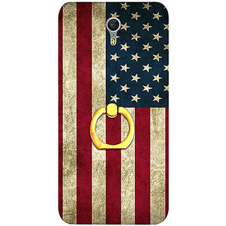 Casotec Vingate USA Flag Design 3D Printed Hard Back Case Cover with Metal Ring Kickstand for Lenovo ZUK Z1
