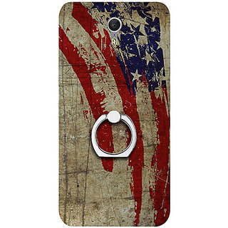 Casotec Vintage American Flag Design 3D Printed Hard Back Case Cover with Metal Ring Kickstand for Lenovo ZUK Z1