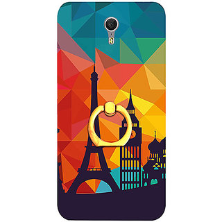 Casotec Colored Paris Design 3D Printed Hard Back Case Cover with Metal Ring Kickstand for Lenovo ZUK Z1