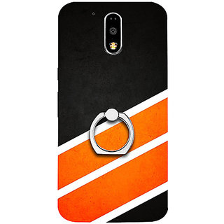 Casotec Abstract Pattern Design 3D Printed Hard Back Case Cover with Metal Ring Kickstand for Motorola Moto G4 Plus