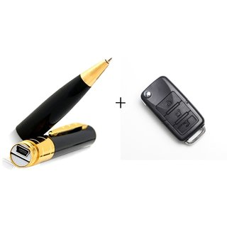 Combo Of Spy Pen And BMW Car Key Cameras