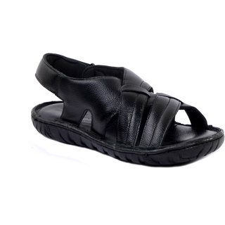 Wallcruz Men Black Sandals
