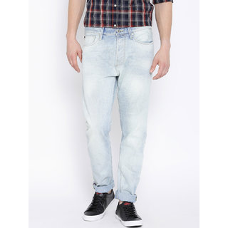 Jack  Jones Light Blue Washed Erik Anti Fit Jeans