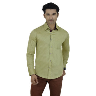 Big Brother Green Button Down Full sleeves Casual Shirt For Men