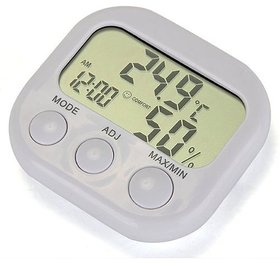 Futaba LCD Digital Thermometer Hygrometer Clock Gauge