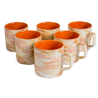 Indian Art Designed Printed Cup Set (set Of 6 Pieces)