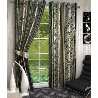 Home Luxurious 2 Piece New Premium Designer Curtains ( Size - Length 5Ft Width 4ft )