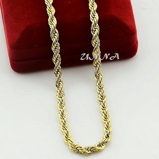 Gold Plated Chain 3mm x 60 cm for MEN AND WOMEN