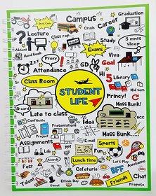 Student Life Green B5 Soft Bind (200pgs)