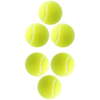 Cricket Tennis Ball - Yellow (Pack of 6) BEST PRODUCY