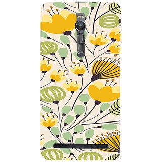 ifasho Animated Pattern colrful flower with leaves Back Case Cover for Asus Zenfone2
