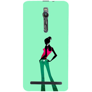 ifasho Girl standing in fashion Back Case Cover for Asus Zenfone2