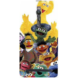 ifasho Cartoon Soft face many cartoons characters Back Case Cover for Asus Zenfone2