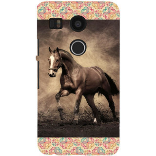 ifasho Brown Horse Back Case Cover for Google Nexus 5X
