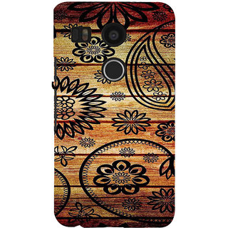 ifasho Animated Royal Pattern with Wooden back ground Back Case Cover for Google Nexus 5X