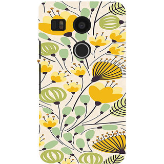 ifasho Animated Pattern colrful flower with leaves Back Case Cover for Google Nexus 5X
