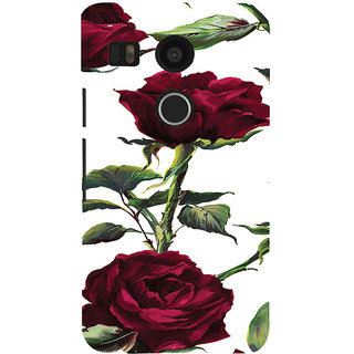 ifasho Animated Pattern colorful rose flower with leaves Back Case Cover for Google Nexus 5X