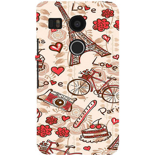 ifasho Modern Art Design Pattern Bicycle camera cake tower Back Case Cover for Google Nexus 5X
