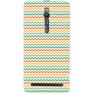 ifasho Animated Pattern of Chevron Arrows  Back Case Cover for Asus Zenfone2
