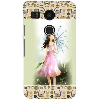 ifasho young Girl with umbrella Back Case Cover for Google Nexus 5X
