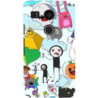 ifasho Cartoon Soft face many cartoons characters Back Case Cover for Google Nexus 5X