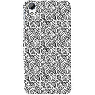 ifasho Animated Pattern design black and white flower in royal style Back Case Cover for HTC Desire 626