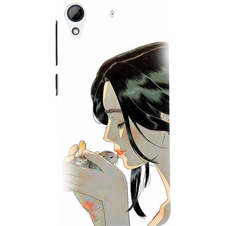 ifasho Girl kissing squirrel Back Case Cover for HTC Desire 626