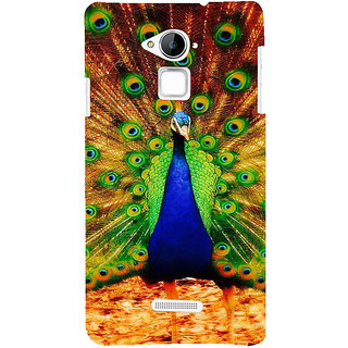 ifasho Beautiful Peacock Back Case Cover for Coolpad Note 3
