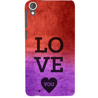 ifasho love you quotes Back Case Cover for HTC Desire 820