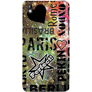 ifasho water Drop on Colurful love and city names Back Case Cover for HTC Desire 816