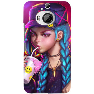 ifasho Girl drinking cold drink Back Case Cover for HTC ONE M9 Plus