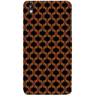 ifasho Animated Pattern design colorful flower in black background Back Case Cover for HTC Desire 816